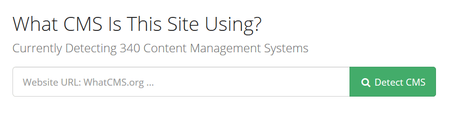 Qué plantilla utiliza una web con WhatCMS